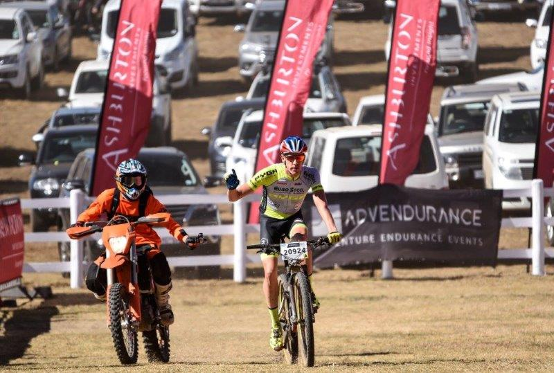 Matthys Beukes won the second day the National MTB Series in Dullstroom today.