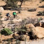 Some riders in action during the second day of the Namaqua Quest MTB Stage Race.