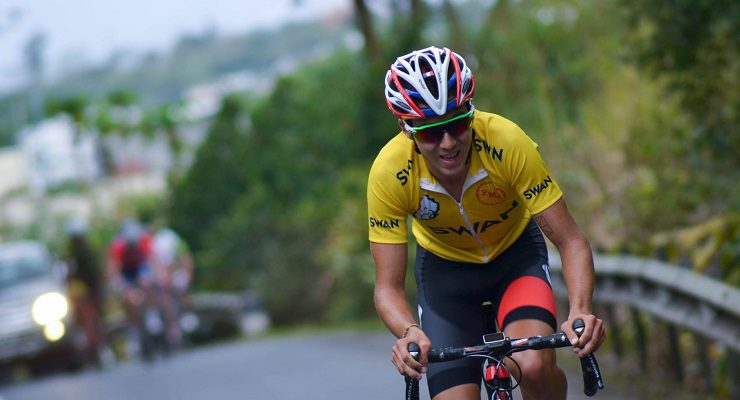 Race leader Olivier Le Court won stage four of the Tour de Maurice today.
