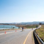 Para-cycling action at the Midmar Dam