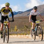Robert Hobson (right), who won the Ride2Nowhere with Erik Kleinhans, took the victory in this year's Karoo to Coast.