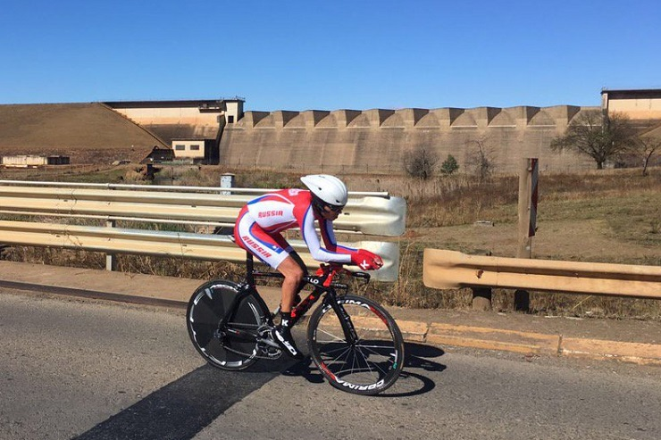 Time-trial action from the Para-cycling Road World Championship