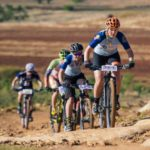 Frances du Toit leads some of the riders during the fifth day of the Lesotho Sky.