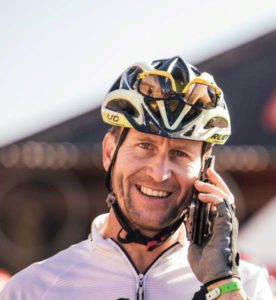 A last minute phone call had to be made before this rider started day five of the Lesotho Sky.