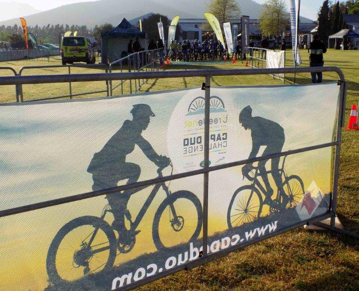 Charl-Pierre Esterhuyse and Robert Hobson took the victory on the third day of the Cape Duo Challenge, which consisted of a 55km mountain bike race.