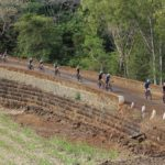 Mountain bikers in action during day one of the Colin Mayer Tour.