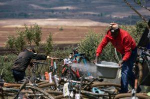 Bike wash at Lesotho Sky