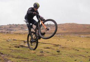 Wheelies at Lesotho Sky