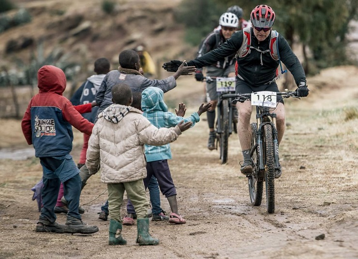 Support on day three of the Lesotho Sky