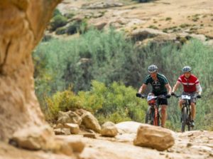 Riding through rocky areas