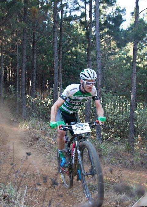 Shaun-Nick Bester won the National Classic Cycle Race mountain bike event in Brakpan today. Photo: Facebook/Shaun-Nick Bester