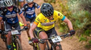 Jennie Stenerhag in action during stage two of Wines2Whales Race.