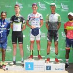 Chris Jooste (centre) won the inaugural Tshwane Classic.