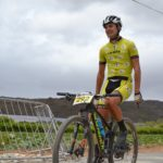 Charl-Pierre Esterhuyse on his bike at the Race2Nowhere. Photo: Supplied