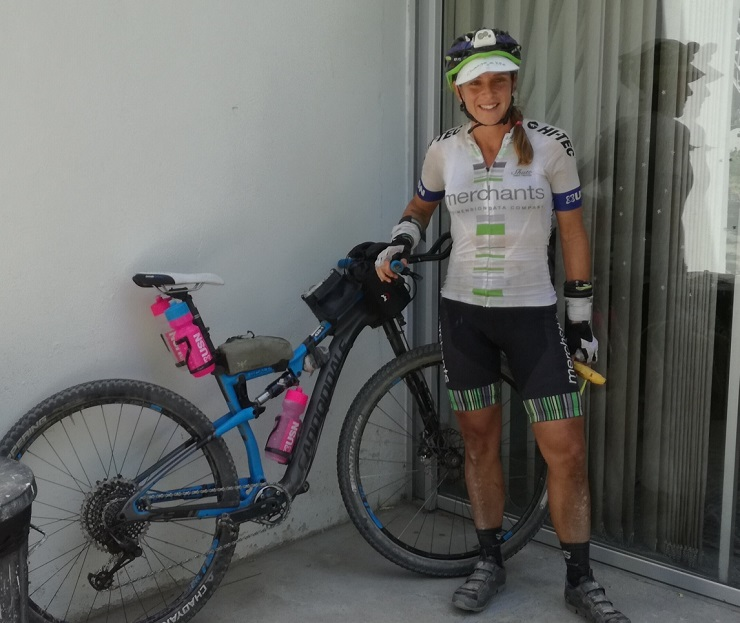 Jeannie Dreyer's ride at The Munga was helped by a space blanket to prevent a race-ending mechanical. Photo: Supplied.