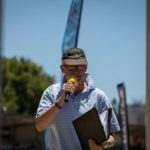 Johnny Koen on commentry duty at the Paarl Boxing Day. Photo: Owen Lloyd