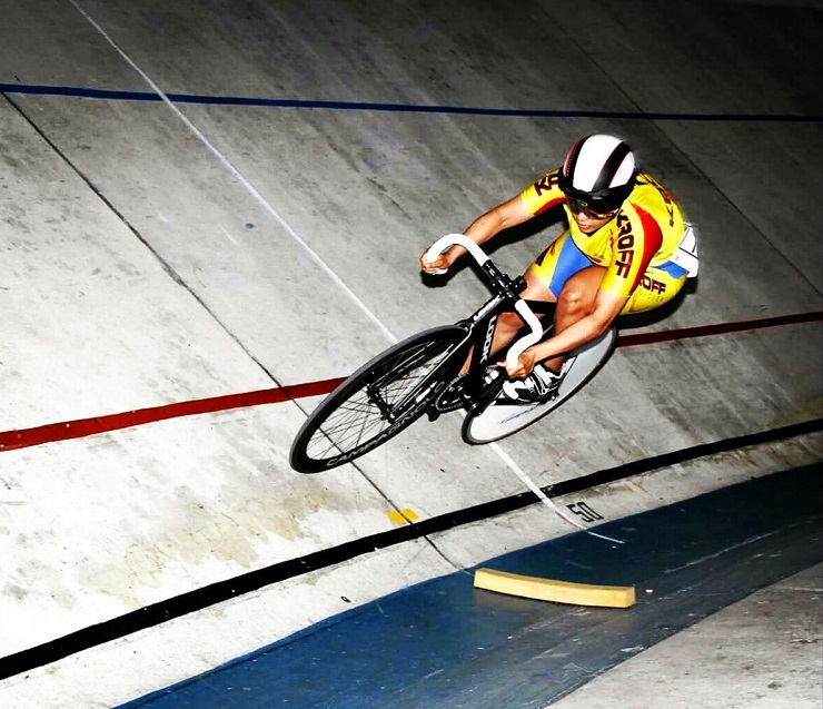 Magdalene Nicholson in action on the track. Photo: Supplied