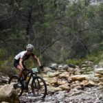 An image of one of the 2018 Attakwas Extreme MTB Challenge riders in action.