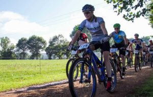 A picture of the Drak Descent riders during stage two of the event.