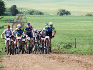Some riders in action during stage two of the 2018 Drak Descent.