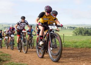 Pictured here are some riders during the second stage of the 2018 Drak Descent.