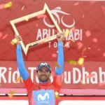 Alejandro Valverde, pictured here, won the overall title of the Abu Dhabi Tour today. Photo: Abu Dhabi Tour