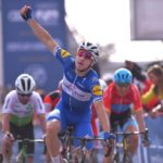 Quick-Step Floors' Elia Viviani the 154km second stage of the Abu Dhabi Tour today. Photo: GettySport