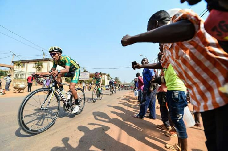 Carl Bonthuys, pictured here in South African colours at the the Tour de L'espoir, is hoping to hit his straps at the Tour de PPA on Sunday. Photo: Full Gas Racing