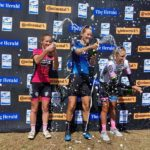 Maroesjka Matthee (middle) relished winning the 106km Herald Cycle Tour Road Race in Port Elizabeth yesterday. Photo: Herald Cycle Tour
