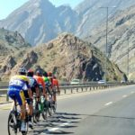 Riders in action during stage five of the 2018 Tour of Oman.
