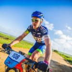 Andrew Hill, pictured here on day three, rode to a comfortable victory on stage four and the overall PE Plett title when the race finished today. Photo: Deidre Cloete