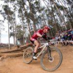 Elite women's winner Annika Langvad in action at the UCI Mountain Bike World Cup in Stellenbosch. Photo: Shannon Valstar