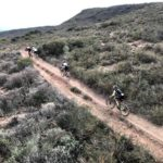 Manuel Fumic & Henrique Avancini and Jaroslav Kulhavy & Howard Grotts racing head-to-head on the last several kilometres during stage one of the Cape Epic today. Photo: Cape Epic