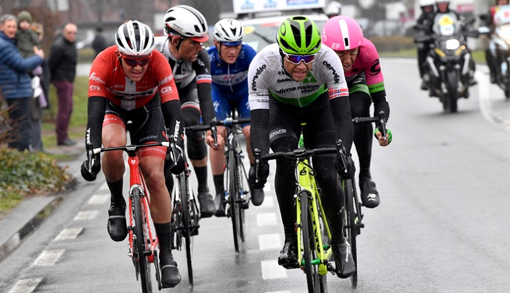 Edvald Boasson Hagen in action during the Dwars door Vlaanderen in Belgium today. Photo: Stiehl Photography