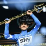 Team Sky's Michal Kwiatkowski pictured after winning the Tirreno-Adriatico in Italy today. Photo: @TirrenAdriatico