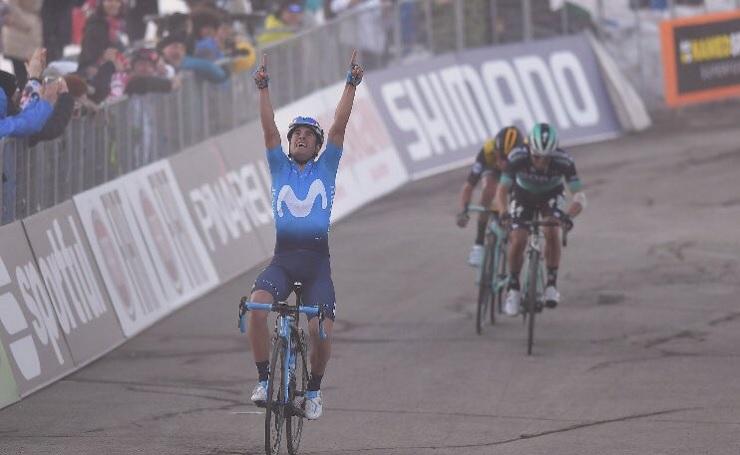 Movistar Team's Mikel Landa won the 219km stage four of the Tirreno-Adriatico today. Photo: @MikelLandaMeana