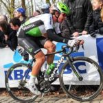 Ryan Gibbons in action during the Gent-Wevelgem in Belgium yesterday. Photo: Stiehl Photography