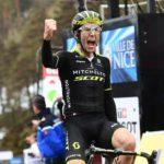 Simon Yates won the 175km seventh stage of the Paris-Nice today. Photo: @ParisNice