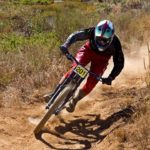 Theo Erlangsen, pictured here, won the second Western Province Downhill race in Jonkershoek, Western Cape, on Sunday. Photo: Supplied