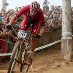 Sam Gaze at 2018 UCI Mountain Bike World Cup in Stellenbosch.