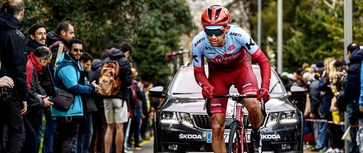 Katusha-Alpecin's Willie Smit in action during the Volta a Catalunya in Spain last week. Photo: Namuss Films