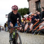 Ashleigh Moolman-Pasio, pictured here at the Tour of Flanders a few weeks ago, took a gamble to finish fourth at the Liege-Bastogne-Liege in Belgium yesterday.. Photo: Sean Robinson/Velofocus