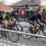 Ashleigh Moolman-Pasio (right) pictured at the Tour of Flanders a few weeks ago, was happy to finish second in the La Flèche Wallonne in Belgium yesterday. Photo: Sean Robinson/Velofocus