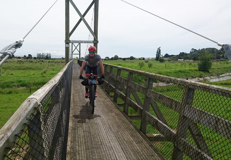 Bruce Hughes, pictured here racing in New Zealand, broke the record in the 575km Freedom Challenge Race to Cradock two weeks ago. Photo: Supplied
