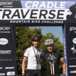 Andrew Stockwell (left) and Bryce Munro won the overall Cradle Traverse when it finished in Muldersdrift today. Photo: Sage Lee Voges/www.zcmc.co.za