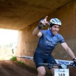 Rider passing through a tunnel during the third stage of the Cradle Traverse yesterday. Photo: Sage Lee Voges/ZC Marketing Consulting