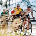 Gustav Basson (yellow jersey), James Fourie (polka dot), Jayde Julius (red) and Clint Hendricks (green) at Tour de Limpopo