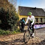 Jay Thomson, pictured here at the Omloop Het Nieuwsblad two months ago, was happy with his achievements in the gruelling 257km Paris-Roubaix despite a mechanical setback. Photo: Stiehl Photography