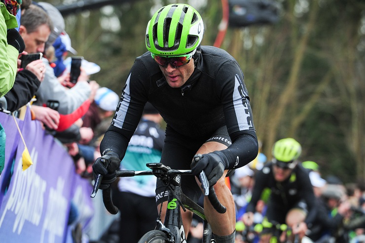 """Jay Thomson, pictured here at the Tour of Flanders last week, expects a """"crazy fest"""" of racing on the way to the finish of the 257km Paris-Roubaix today. Photo: Stiehl Photography"""