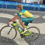 Katrin Garfoot, pictured here at the 2016 Rio Olympics, won the Commonwealth Games women's individual time-trial today. Photo: Wikimedia